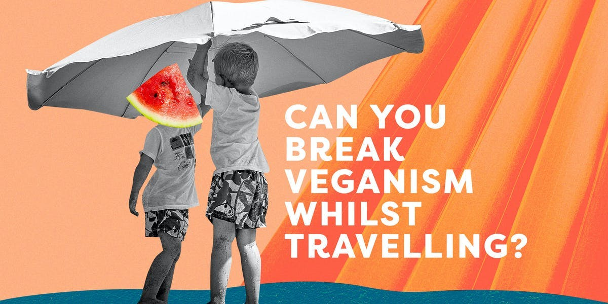 can you break your veganism whilst travelling - kids with umbrella