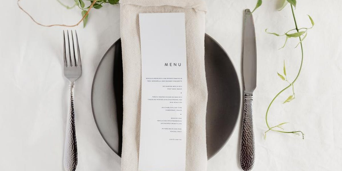 place setting at a table